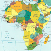 Superb Africa Map To Practice For Countries Quiz