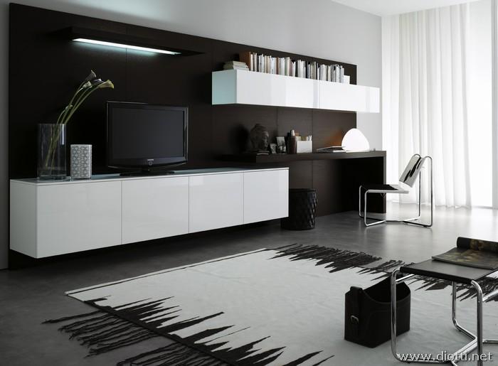 mobili bianchi moderni per arredare il soggiorno. 22 mobile ...