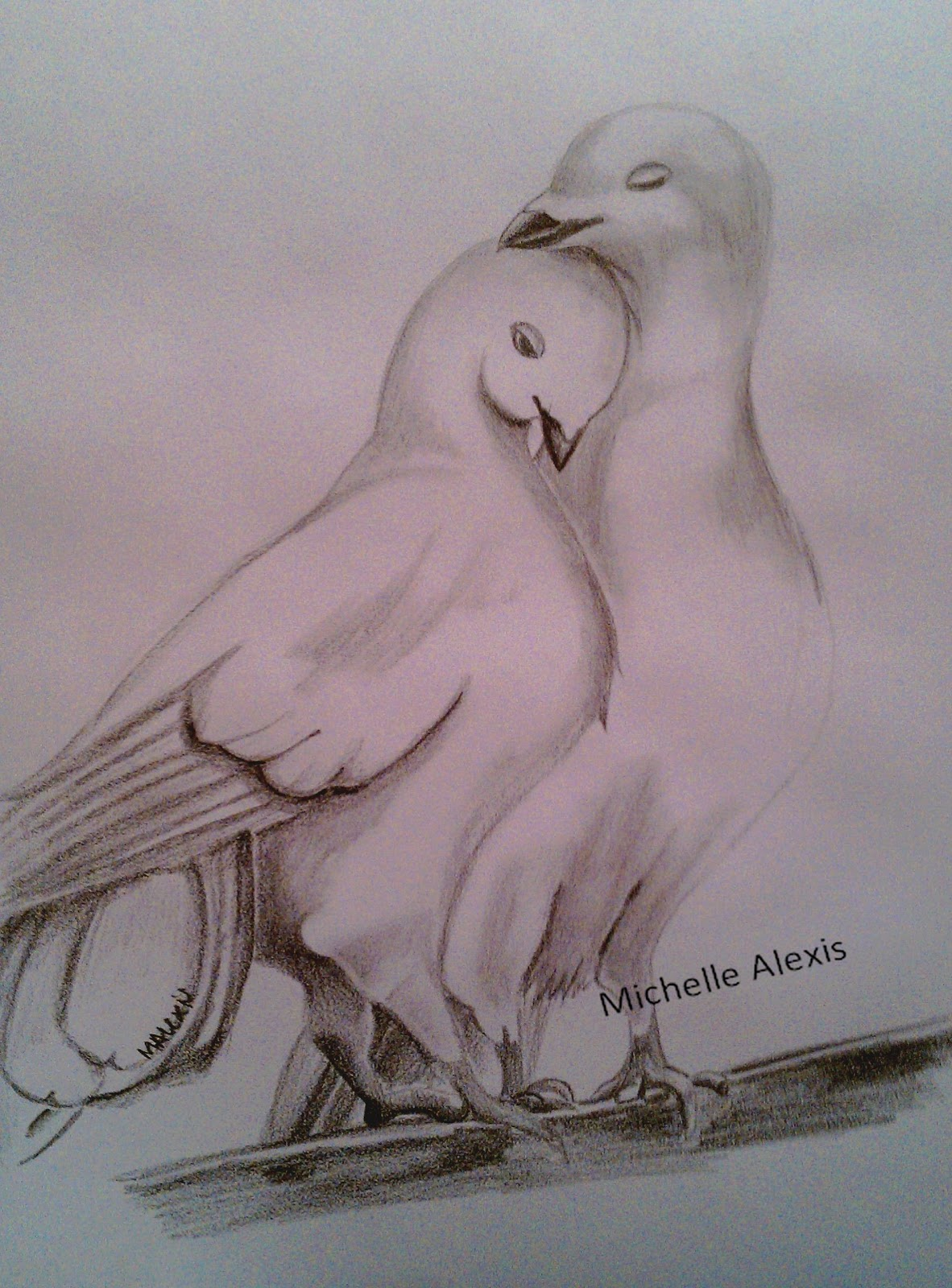 Easy drawing of love birds pencil shading love birds images