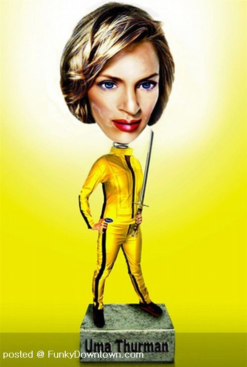 Celebrity Bobbleheads 14 Pics: UniQuePic: Hollywood Stars When They Become Bobble-head Dolls