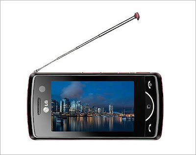 LG lança celular com TV digital e câmera de 3 Mpixels