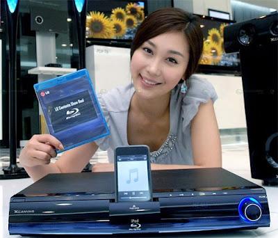 Blu-ray Home Theater da LG com doca para iPhone e iPod