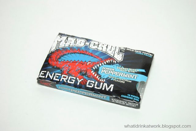 What I Drink At Work Mad Croc Energy Gum Power Peppermint