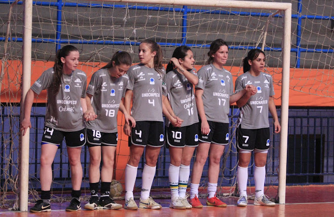 Brazilian Women Nacional Champions Unochapeco  during practice for the must win game.