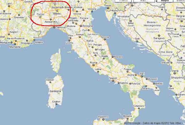 Mapa Del Norte De Italia Y Suiza.Mapa Norte Italia Y Suiza Werkspy