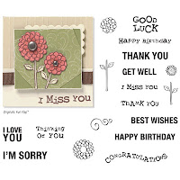 CTMH dainty thoughts stamp set