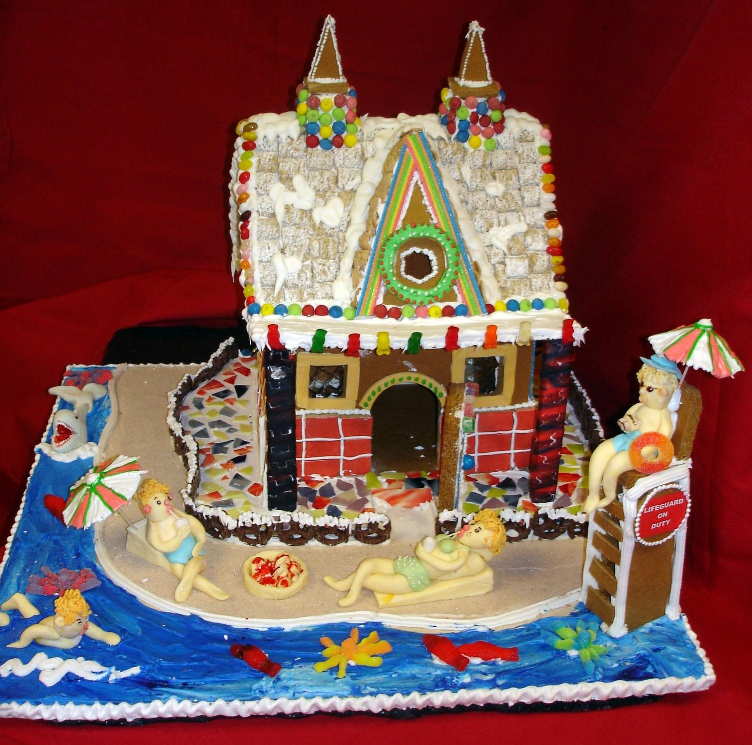 Beach Themed Gingerbread House: OC Mom Activities: December 2010