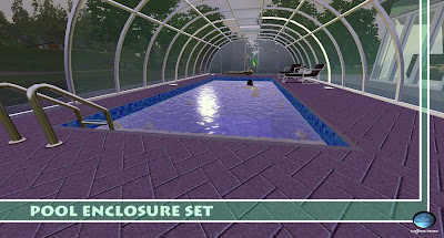 My sims 3 blog pool enclosure set green house by sim3tria for Pool design sims 3