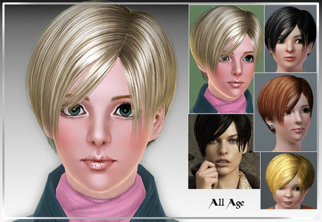 5 Hairstyles For Short Hair Erin Rose: My Sims 3 Blog: New Donation Hair By Rose