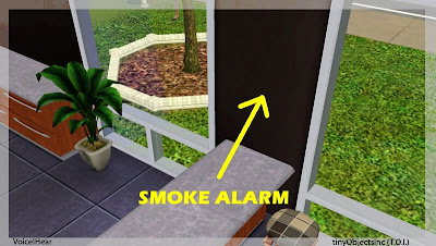 My Sims 3 Blog: INVISIBLE Smoke Alarm !! tinyObjectsInc (T O I ) by