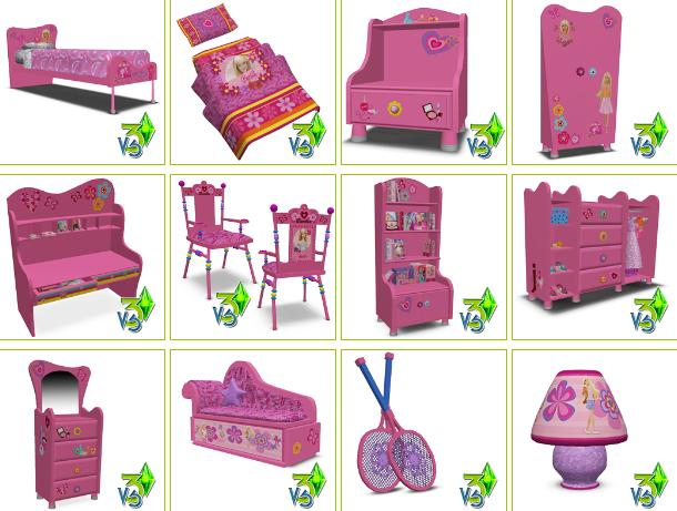 Empire Sims 3: Barbie & Bratz Girls Room Set By Vita Sims