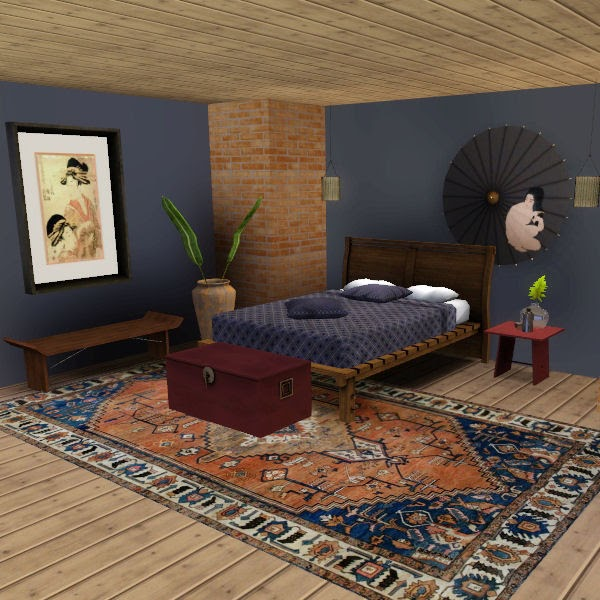 My Sims 3 Blog: Japanese Inspired Bedroom Set By Heidi