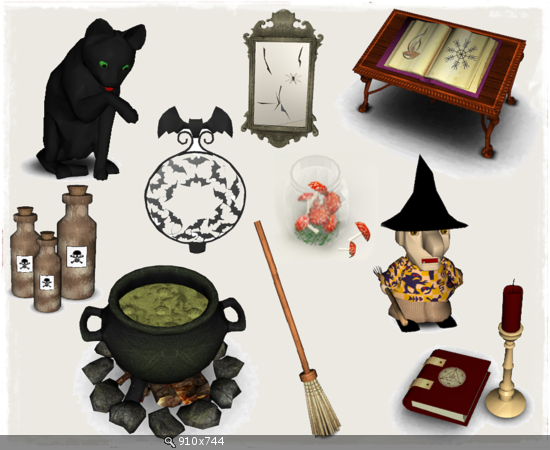 My Sims 3 Blog Halloween and Magic Set by Helen