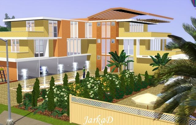 My sims 3 blog apartment building with pool by jarkad for Pool design sims 3