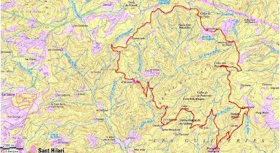 Sant Hilari Sacalm Mapa.Fer Muntanya Roques Del Rei Sant Hilari Sacalm