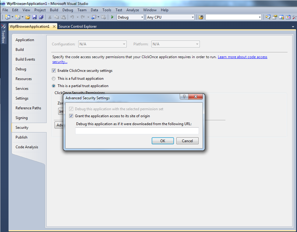 Softminer Net: How to run WPF Browser Application on Visual Studio 2010