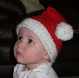 Knitting with Monkey: Baby Santa Hat Pattern