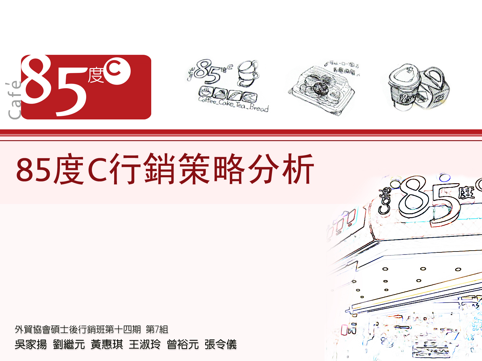 Ling's ArtBox: 85度C報告 投影片封面