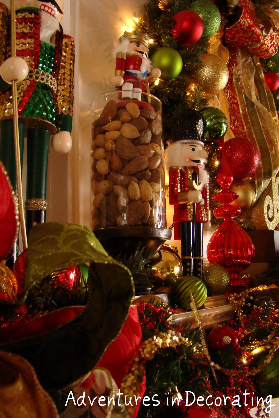 Adventures in Decorating: Nutcracker Mantel