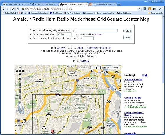 Amateur Radio Ham Radio Maidenhead Grid Square Locator Map