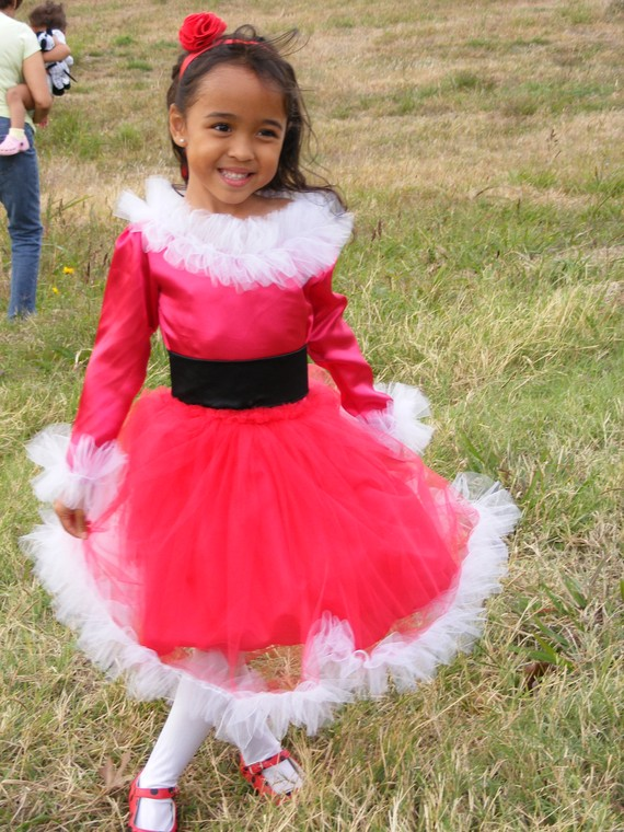 Get It Together Mom Red And White Tulle Santa Dress For