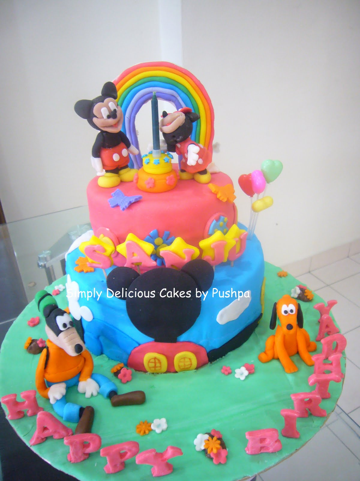 Simply Delicious Cakes Mickey Mouse Clubhouse