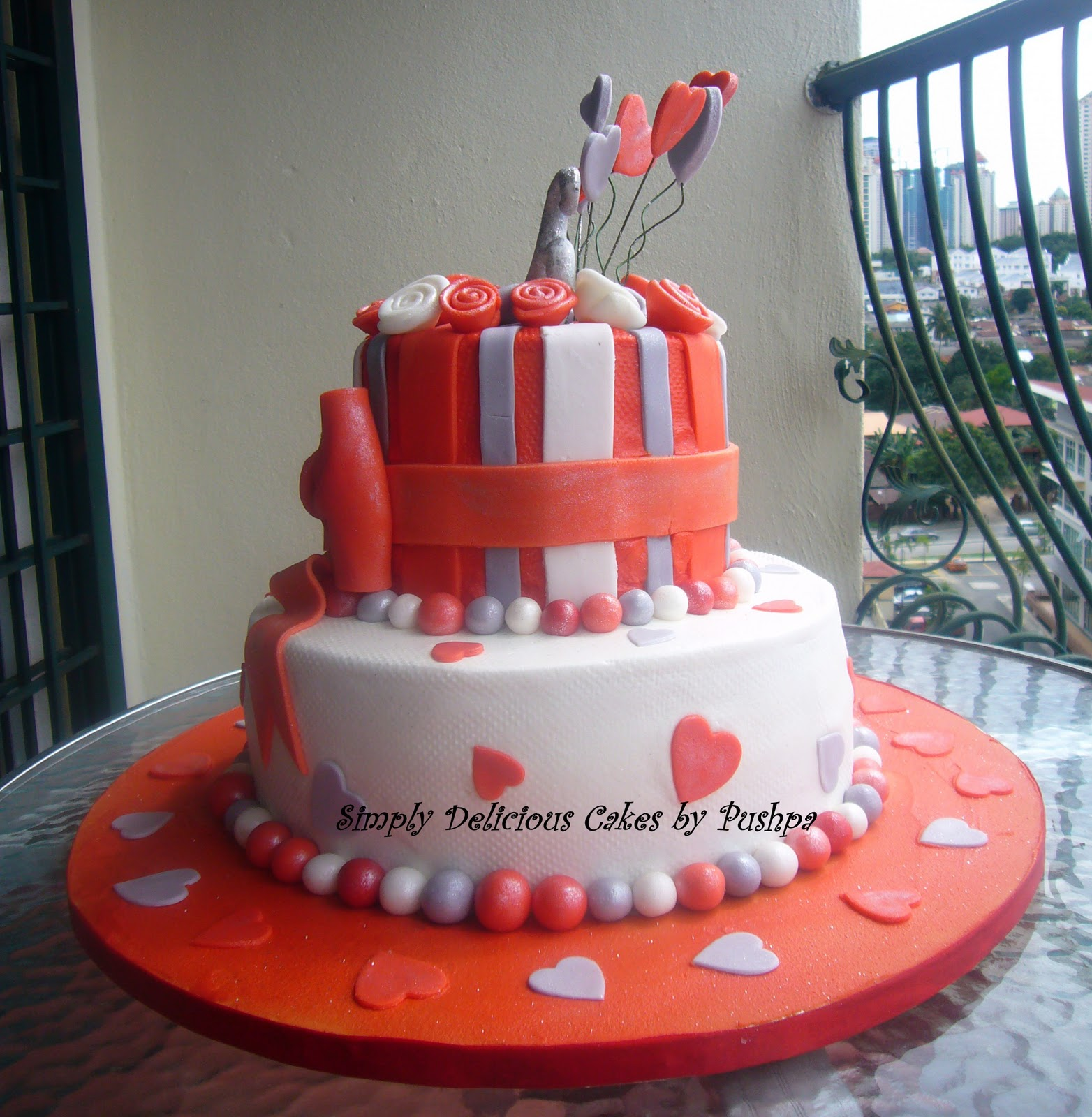 Silver Jubilee Wedding Anniversary Gifts: SIMPLY DELICIOUS CAKES: Silver Jubilee Anniversary