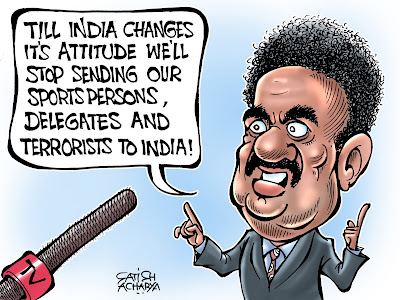 World Of An Indian Cartoonist India Vs Pakistan In War Mode Over