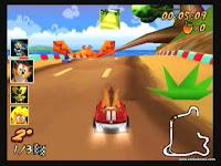 captura de tela do jogo crash nitro kart 4