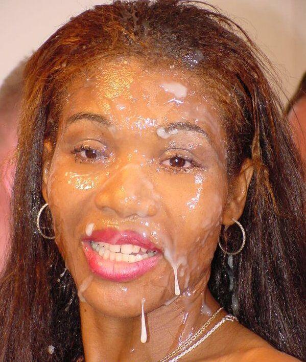 Black Cum On Face 26