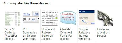 Comment INSTALLER Articles Similaire Avec Image Pour BLOGGER