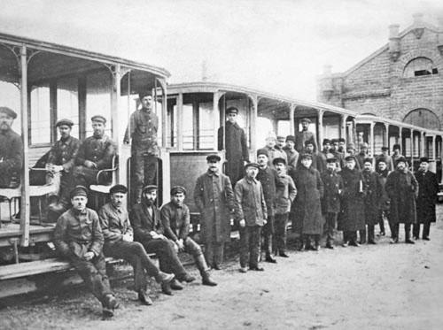 Трамвай открытого типа в Симферополе