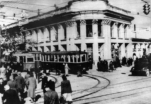 Трамвай в Симферополе, перекресток Кирова — К. Маркса