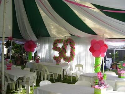 Enchanted Events And Balloons Backyard 50th Birthday