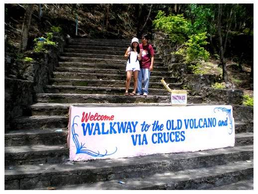 old, walkway, camiguin, island, mindanao, philippines, holy week, via, cruces, old, volcano