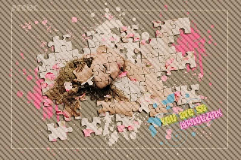 Ps Tutoriales Blends Efecto Puzzle Con Photoshop