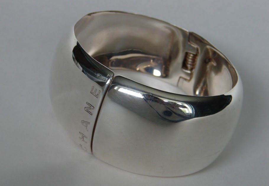 Vintage Chanel Jewelry Chanel Sterling Silver Bangle