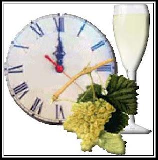 navidad+reloj+brindis fin de año