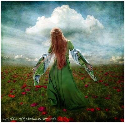 primavera+mujer+flores