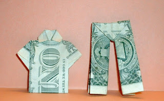 Dollar Origami Shirt & Pants - Make a Dollar Bill Pant Suit ... | 198x320