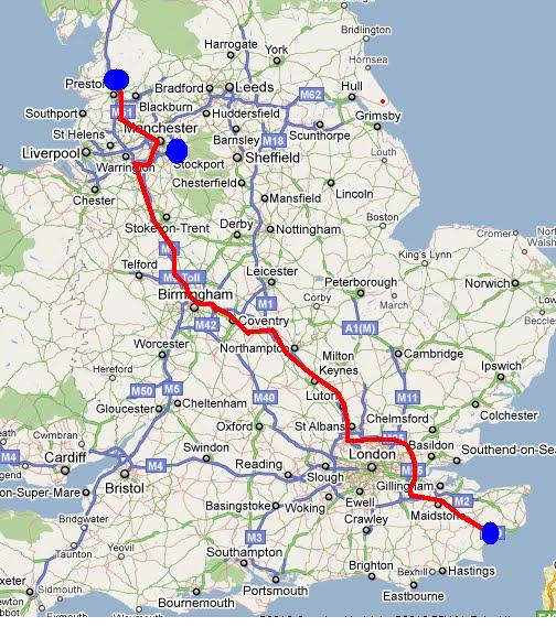 karta södra england Calle och Ingas blogg: Resa genom England karta södra england