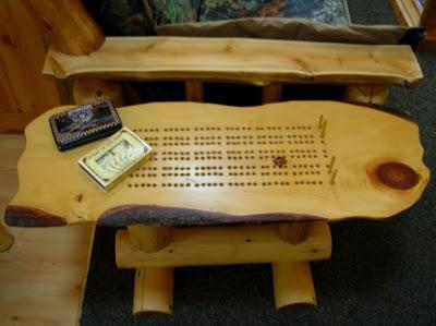 Timber Ridge Log Design Custom Cribbage Board