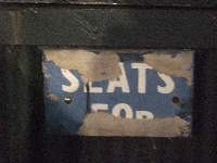 old seats sign