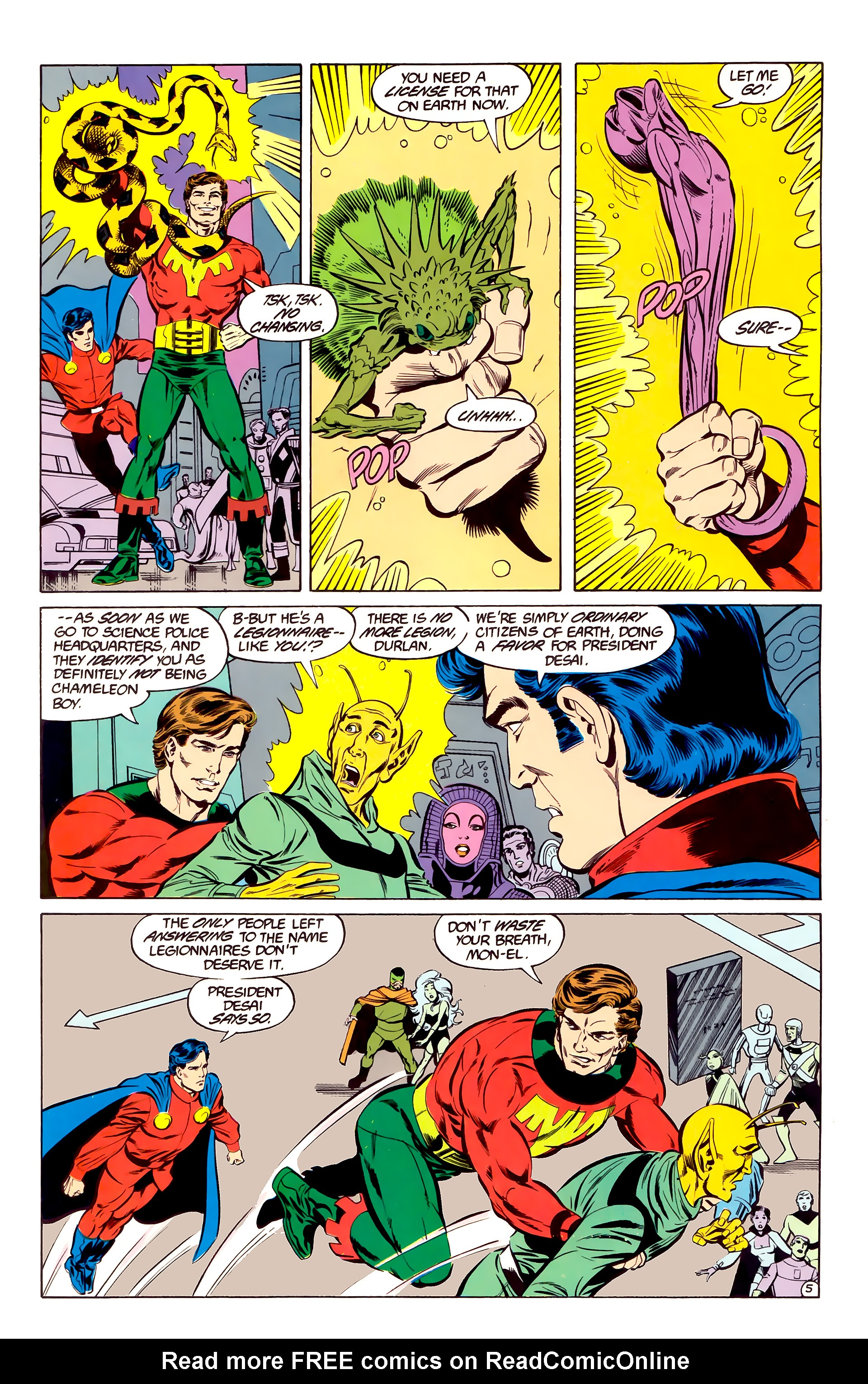 Legion of Super-Heroes (1984) 35 Page 5