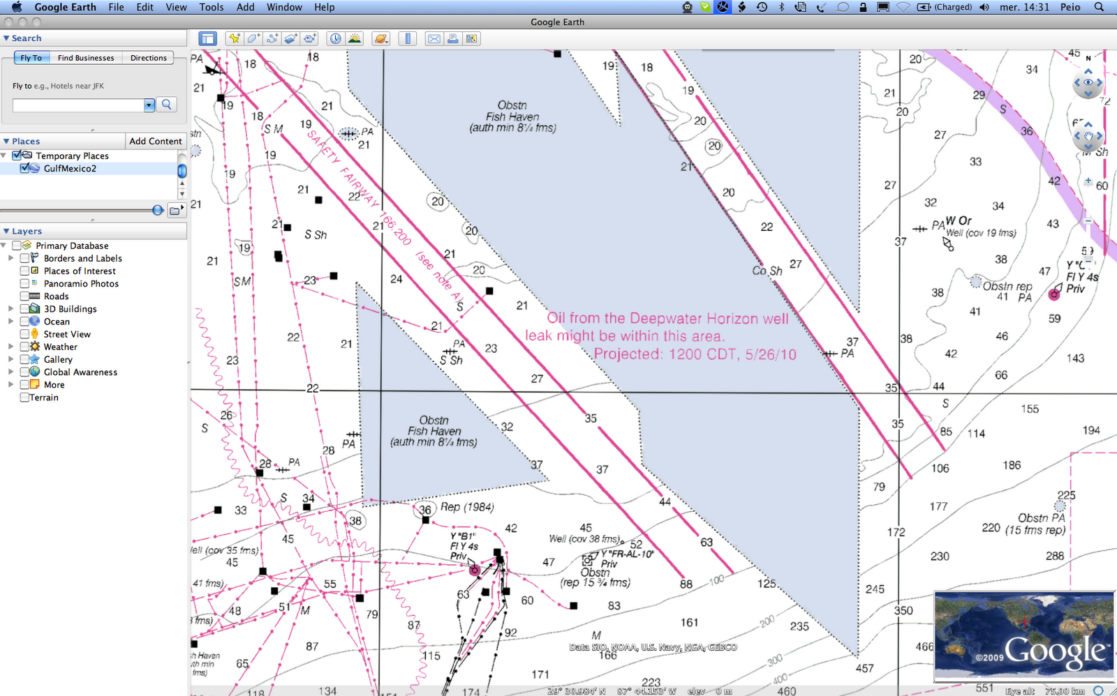 NOAA nautical charts displaying Deepwater     - GeoGarage blog