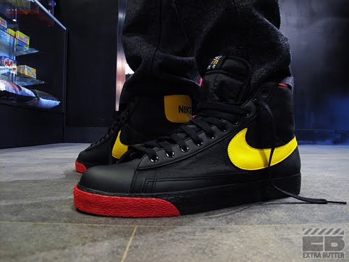 uk availability f22d0 6dfd5 Nike Blazer SP High Black Yellow Red