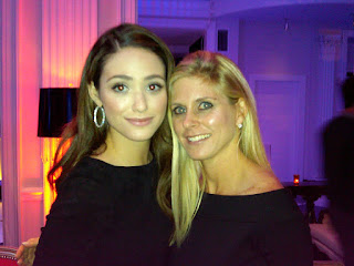 Emmy Rossum and Marla Malcolm Beck