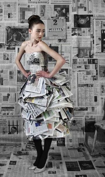 Journey Of An Eco Fashion Brand...: Newspaper Dress