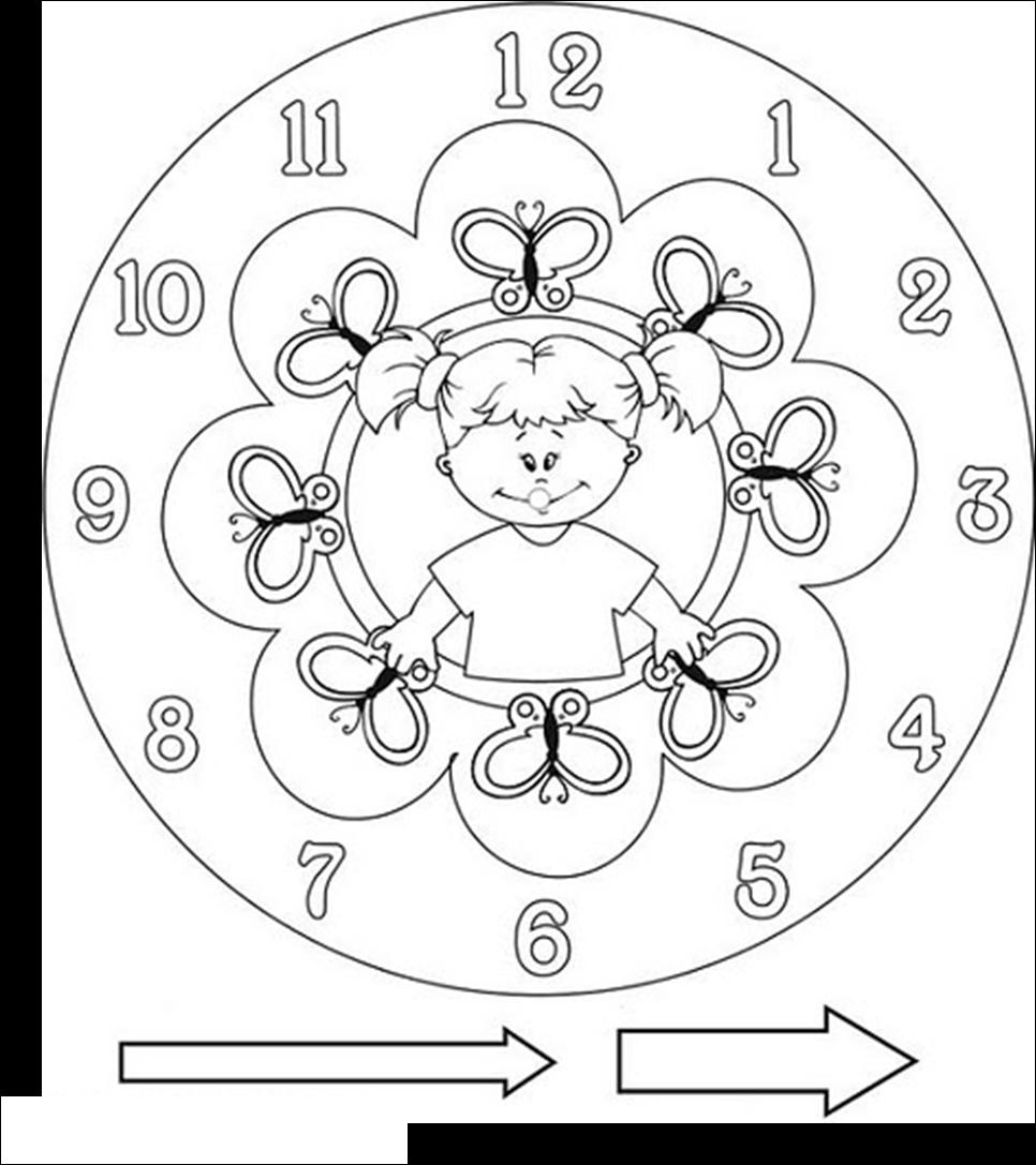 Dibujo reloj para armar - Imagui