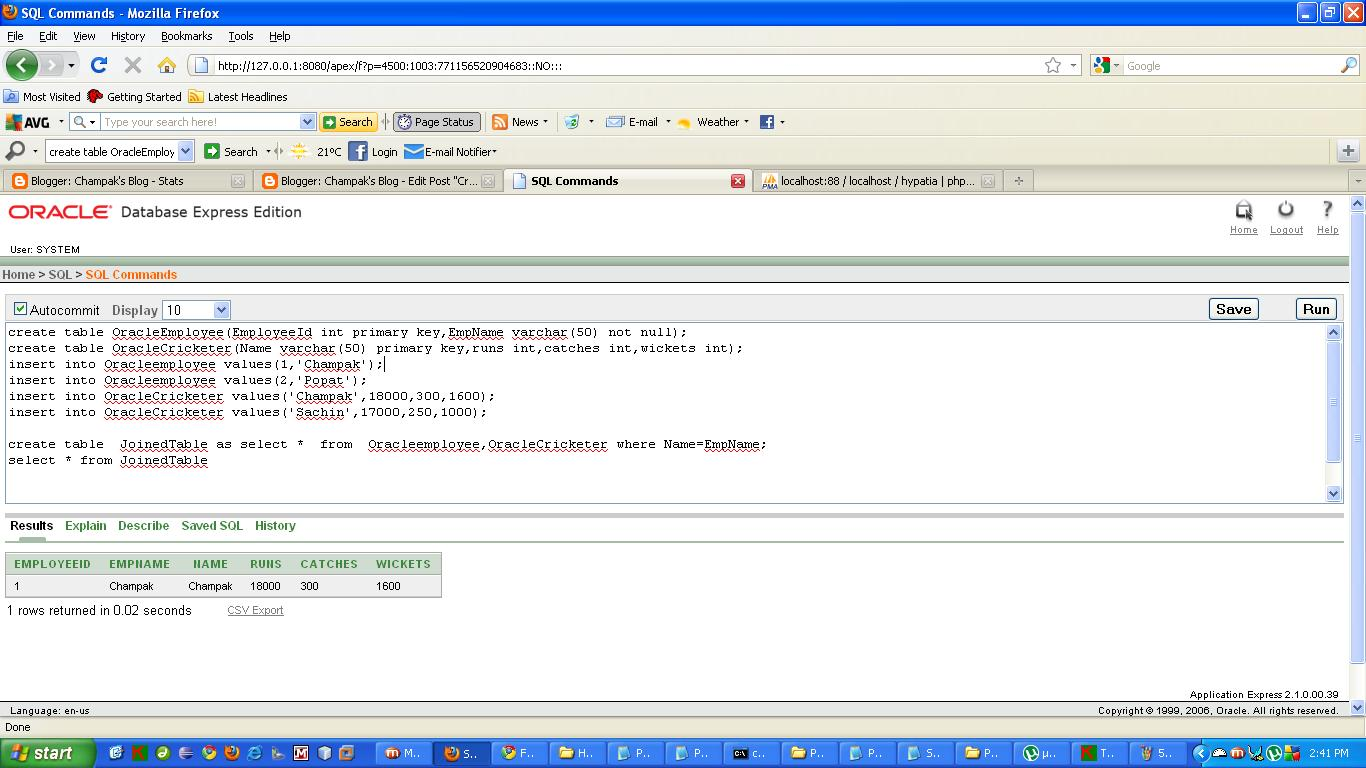 Champak's Blog: Creating Tables from a SQL Select statement